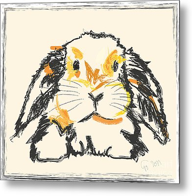 Rabbit Jon Metal Print by Go Van Kampen