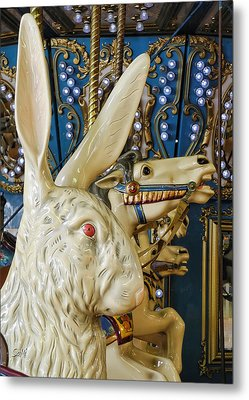 Metal Print featuring the photograph Rabbit On The Carousel by Sami Martin