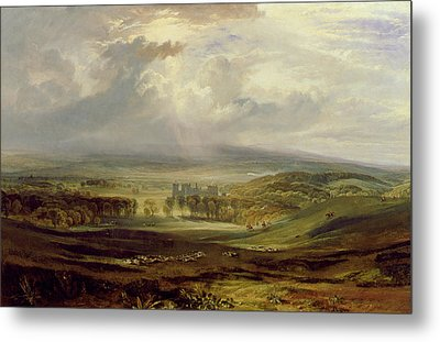 Raby Castle Metal Print by Joseph Mallord William Turner