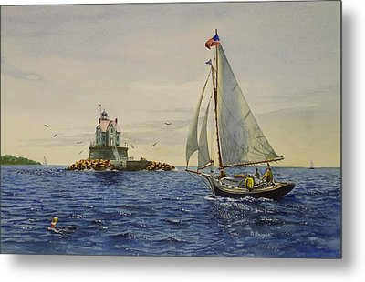 Race Rock Light To The Windward Metal Print