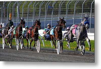 Metal Print featuring the photograph Race To The Finish by Davandra Cribbie