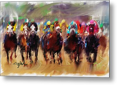 Race To The Finish Line Metal Print
