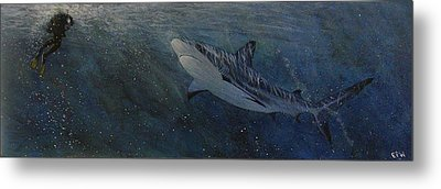 Race To The Surface Metal Print by Edith Peterson-Watson