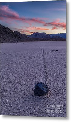 Race Track Death Valley Metal Print by Jerry Fornarotto