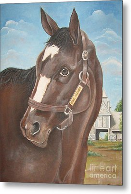 Rachel Alexandra At Stonestreet Farms Metal Print by Patrice Torrillo