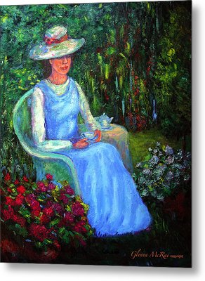 Rachel's Secret Garden Metal Print by Glenna McRae