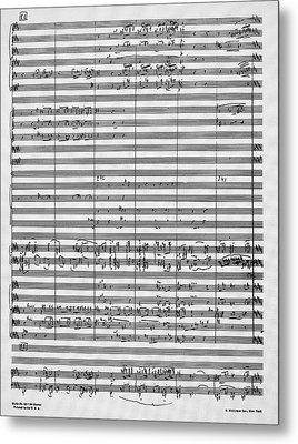 Rachmaninoff Manuscript Metal Print