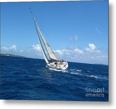 Metal Print featuring the photograph Racing At St. Thomas 2 by Tom Doud