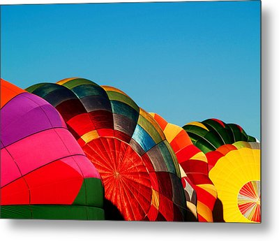 Racing Balloons Metal Print by Bill Gallagher