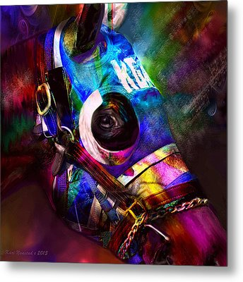 Racing Colors Metal Print