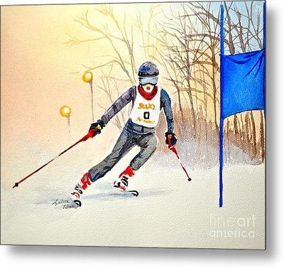 Racing The Sun Metal Print by Andrea Timm
