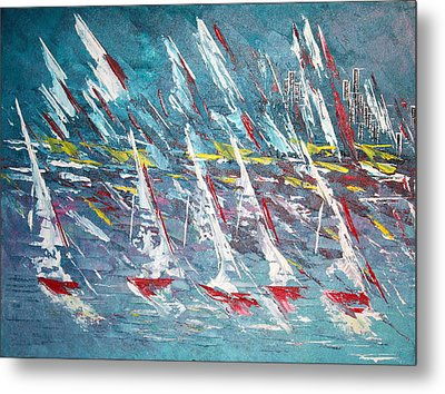 Racing To The Limits - Sold Metal Print