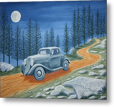 Metal Print featuring the painting Racing Was Born In North Carolina by Stacy C Bottoms