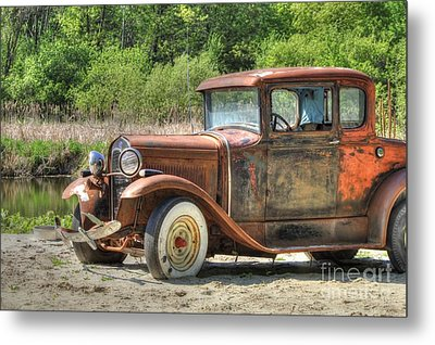 Rad Rusty Ride Metal Print by Jimmy Ostgard