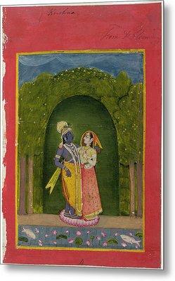 Radha And Krishna Metal Print by British Library