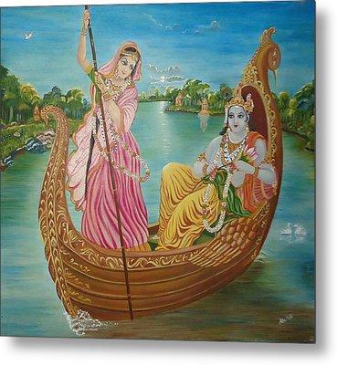 Radha Krishna Metal Print by Alka  Malik