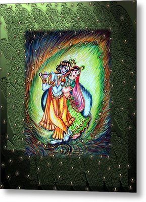 Radha Krishna Metal Print by Harsh Malik