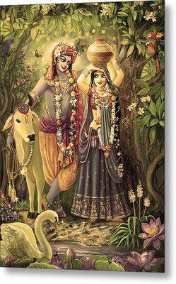 Radha-krishna Radhakunda 2 Metal Print by Lila Shravani