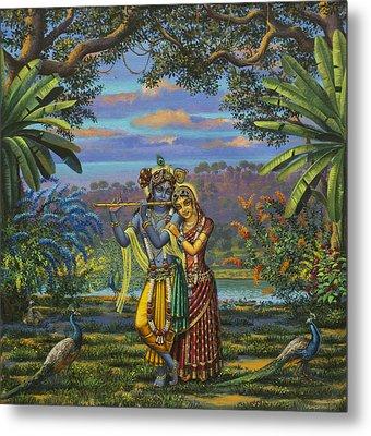 Radha Krishna Metal Print by Vrindavan Das