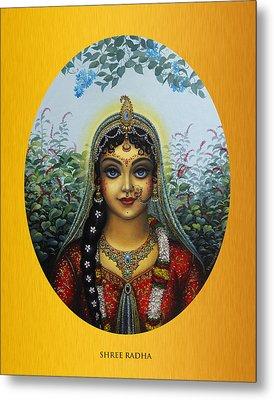 Radha Metal Print by Vrindavan Das