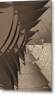 Radial Edges - Earth Metal Print by Stephen Younts