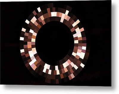 Radial Mosaic In Brown Metal Print