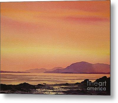 Radiant Island Sunset Metal Print by James Williamson