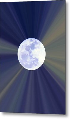Metal Print featuring the photograph Radiant Moon by Kelly Nowak