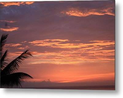 Metal Print featuring the photograph Radiant Sunset 2 by Karen Nicholson