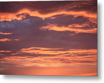 Metal Print featuring the photograph Radiant Sunset 3 by Karen Nicholson