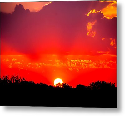 Metal Print featuring the photograph Radiant Sunset by Dee Dee  Whittle
