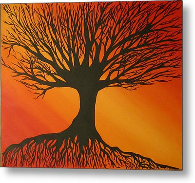 Radiant Tree Metal Print