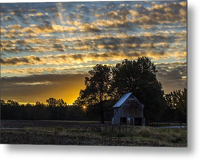 Radiating Sunrise Metal Print