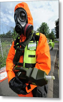 Radiation Emergency Response Worker Metal Print by Public Health England