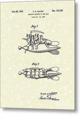 Radiator Ornament 1940 Patent Art Metal Print