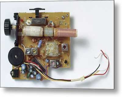 Radio Circuit Board And Components Metal Print