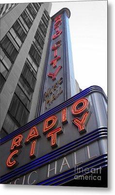 Radio City Metal Print by Dan Holm