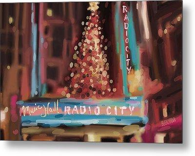 Radio City Music Hall Christmas New York City Metal Print