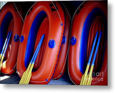 Rafts Waiting Metal Print by Ranjini Kandasamy