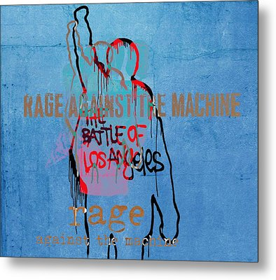 Rage Against The Machine Metal Print by Dan Sproul