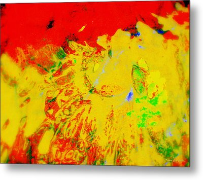 Rage Metal Print by Deborah  Crew-Johnson