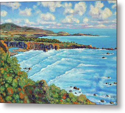 Metal Print featuring the painting Ragged Point California by Dwain Ray