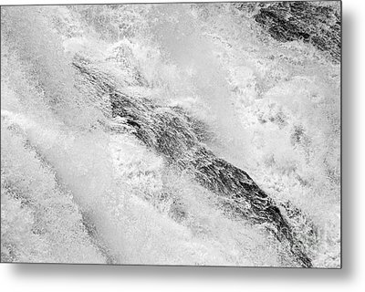 Raging - Close Up Of A Roaring Waterfall Metal Print