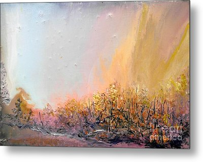 Raging Forest Fire Metal Print