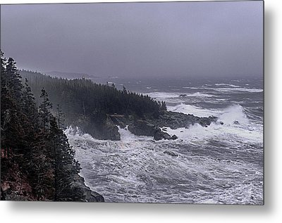 Raging Fury At Quoddy Metal Print by Marty Saccone
