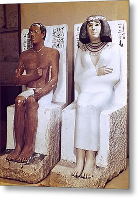 Rahotep And His Wife, Nofret. 2620 Bc Metal Print