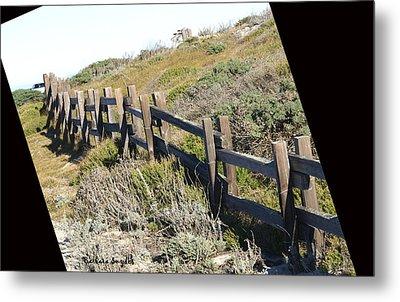 Rail Fence Black Metal Print by Barbara Snyder