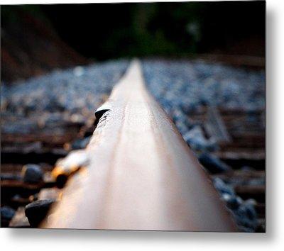 Rail Line Metal Print by Greg Simmons