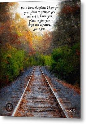 Rail Of Hope Metal Print