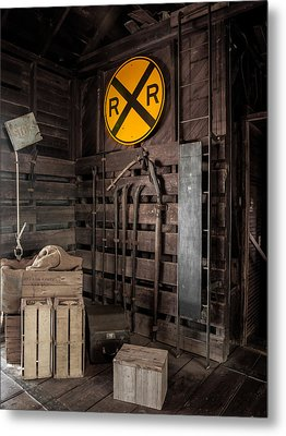 Metal Print featuring the photograph Rail Road by Randy Sylvia
